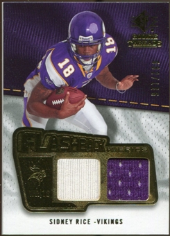 2008 Upper Deck SP Rookie Threads Flashback Fabrics #FFSR Sidney Rice /115