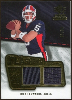 2008 Upper Deck SP Rookie Threads Flashback Fabrics 99-115 #FFTE Trent Edwards /115