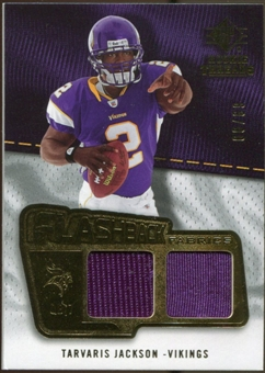 2008 Upper Deck SP Rookie Threads Flashback Fabrics 99-115 #FFTJ Tarvaris Jackson /115