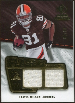2008 Upper Deck SP Rookie Threads Flashback Fabrics 99-115 #FFTW Travis Wilson /99