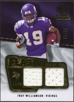2008 Upper Deck SP Rookie Threads Flashback Fabrics 99-115 #FFWI Troy Williamson /99