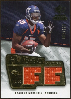 2008 Upper Deck SP Rookie Threads Flashback Fabrics #FFBM Brandon Marshall /200