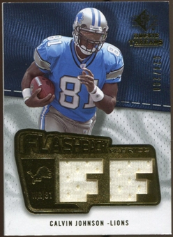 2008 Upper Deck SP Rookie Threads Flashback Fabrics #FFCJ Calvin Johnson /200
