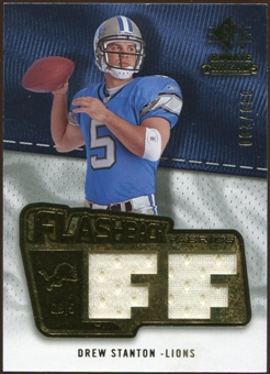2008 Upper Deck SP Rookie Threads Flashback Fabrics #FFDS Drew Stanton /200
