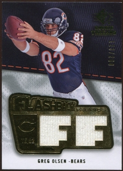 2008 Upper Deck SP Rookie Threads Flashback Fabrics 175-200 #FFGO Greg Olsen /200