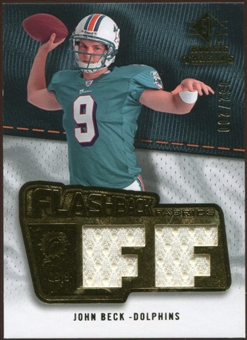 2008 Upper Deck SP Rookie Threads Flashback Fabrics 175-200 #FFJB John Beck /200