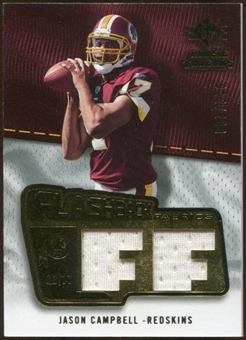 2008 Upper Deck SP Rookie Threads Flashback Fabrics 175-200 #FFJC Jason Campbell /200