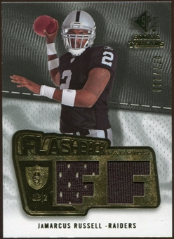 2008 Upper Deck SP Rookie Threads Flashback Fabrics 175-200 #FFJR JaMarcus Russell /200