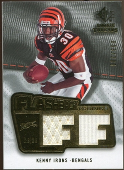 2008 Upper Deck SP Rookie Threads Flashback Fabrics #FFKI Kenny Irons /200