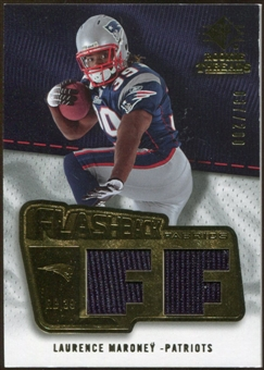 2008 Upper Deck SP Rookie Threads Flashback Fabrics 175-200 #FFLM Laurence Maroney /200