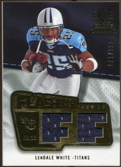 2008 Upper Deck SP Rookie Threads Flashback Fabrics 175-200 #FFLW LenDale White /175
