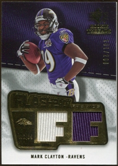 2008 Upper Deck SP Rookie Threads Flashback Fabrics #FFMC Mark Clayton /200