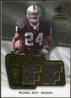 2008 Upper Deck SP Rookie Threads Flashback Fabrics #FFMH Michael Huff /200