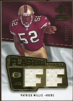 2008 Upper Deck SP Rookie Threads Flashback Fabrics #FFPW Patrick Willis /200