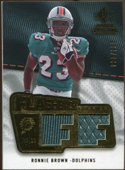 2008 Upper Deck SP Rookie Threads Flashback Fabrics #FFRO Ronnie Brown /200