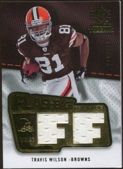 2008 Upper Deck SP Rookie Threads Flashback Fabrics 175-200 #FFTW Travis Wilson /200