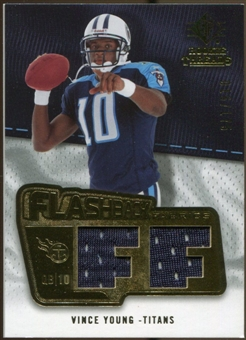 2008 Upper Deck SP Rookie Threads Flashback Fabrics #FFVY Vince Young /175