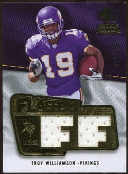 2008 Upper Deck SP Rookie Threads Flashback Fabrics 175-200 #FFWI Troy Williamson /175