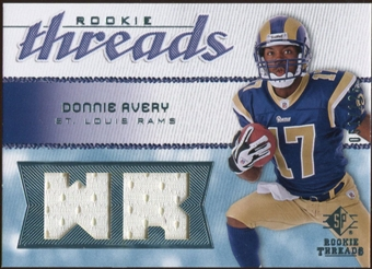 2008 Upper Deck SP Rookie Threads Rookie Threads 125 #RTDA Donnie Avery /125