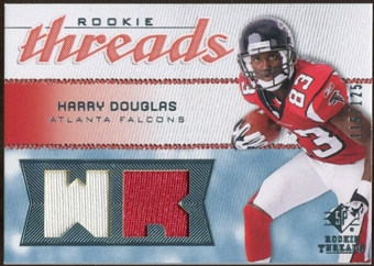 2008 Upper Deck SP Rookie Threads Rookie Threads #RTHD Harry Douglas /125