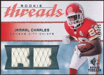 2008 Upper Deck SP Rookie Threads Rookie Threads #RTJC Jamaal Charles /125