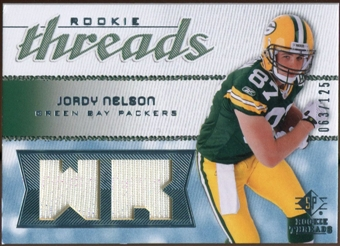 2008 Upper Deck SP Rookie Threads Rookie Threads #RTJN Jordy Nelson /125