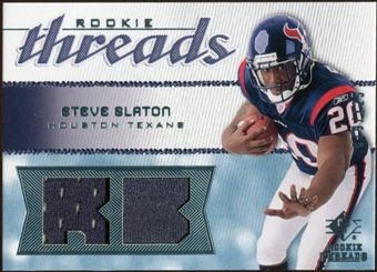 2008 Upper Deck SP Rookie Threads Rookie Threads 125 #RTSS Steve Slaton /125