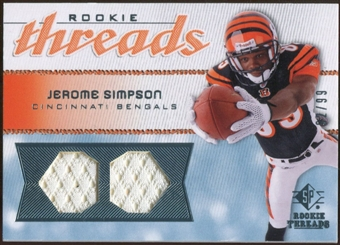 2008 Upper Deck SP Rookie Threads Rookie Threads #RTSI Jerome Simpson 92/99