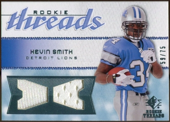 2008 Upper Deck SP Rookie Threads Rookie Threads #RTKS Kevin Smith 59/75