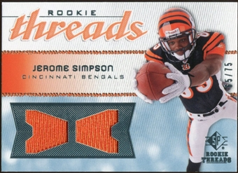 2008 Upper Deck SP Rookie Threads Rookie Threads 75 #RTSI Jerome Simpson /75