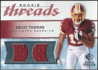 2008 Upper Deck SP Rookie Threads Rookie Threads #RTDT Devin Thomas 17/50