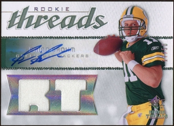 2008 Upper Deck SP Rookie Threads Rookie Threads Autographs #RTBB Brian Brohm 17/50