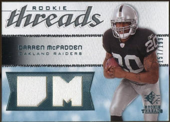 2008 Upper Deck SP Rookie Threads Rookie Threads 199 #RTDM Darren McFadden /199