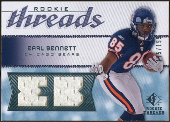 2008 Upper Deck SP Rookie Threads Rookie Threads #RTEB Earl Bennett 175/199