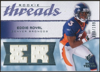 2008 Upper Deck SP Rookie Threads Rookie Threads #RTER Eddie Royal /199