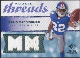 2008 Upper Deck SP Rookie Threads Rookie Threads #RTMM Mario Manningham /199