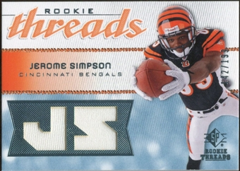 2008 Upper Deck SP Rookie Threads Rookie Threads #RTSI Jerome Simpson /199