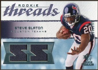 2008 Upper Deck SP Rookie Threads Rookie Threads 199 #RTSS Steve Slaton /199
