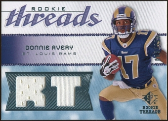 2008 Upper Deck SP Rookie Threads Rookie Threads #RTDA Donnie Avery /250