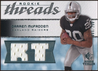 2008 Upper Deck SP Rookie Threads Rookie Threads #RTDM Darren McFadden /250