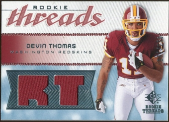2008 Upper Deck SP Rookie Threads Rookie Threads 250 #RTDT Devin Thomas /250