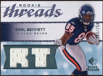 2008 Upper Deck SP Rookie Threads Rookie Threads #RTEB Earl Bennett /250