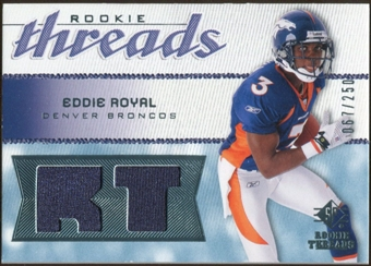 2008 Upper Deck SP Rookie Threads Rookie Threads #RTER Eddie Royal /250