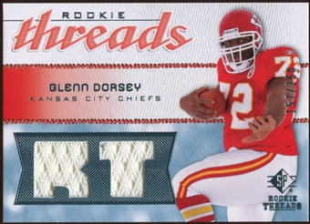 2008 Upper Deck SP Rookie Threads Rookie Threads 250 #RTGD Glenn Dorsey /250