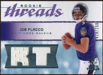 2008 Upper Deck SP Rookie Threads Rookie Threads #RTJF Joe Flacco 28/250