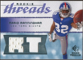 2008 Upper Deck SP Rookie Threads Rookie Threads #RTMM Mario Manningham /250