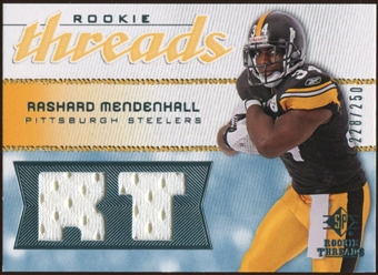 2008 Upper Deck SP Rookie Threads Rookie Threads #RTRM Rashard Mendenhall /250