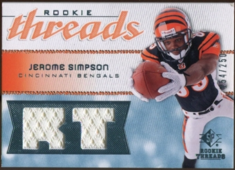 2008 Upper Deck SP Rookie Threads Rookie Threads #RTSI Jerome Simpson 154/250