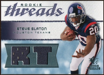 2008 Upper Deck SP Rookie Threads Rookie Threads 250 #RTSS Steve Slaton /250