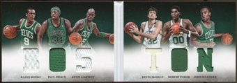 2012/13  Panini Preferred Boston Memorabilia #2 Kevin Garnett/Paul Pierce/Kevin McHale/Robert Parish/Jared Sul